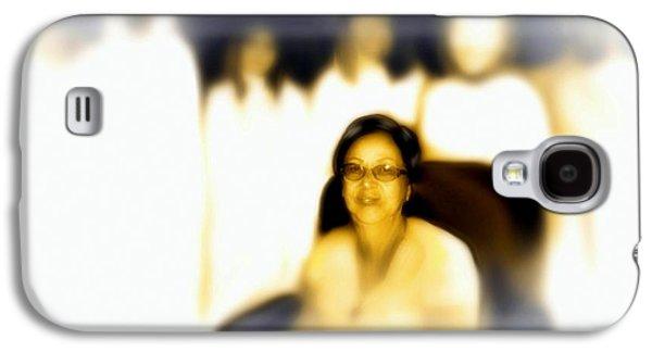 Spiritual Portrait Of Woman Digital Art Galaxy S4 Cases - Medium and Spirit Guides Galaxy S4 Case by Carmen Cordova