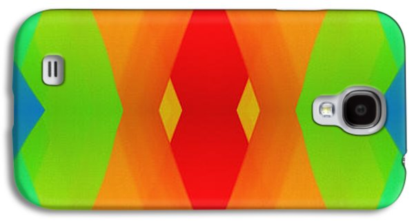 Blue Abstracts Galaxy S4 Cases - Meet Me In The Middle 2 Panorama Galaxy S4 Case by Andee Design