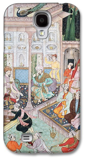Manuscript Galaxy S4 Cases - Meeting Between Babur And Bedi Az Zaman Mirza, 16th-17th Century Gouache On Paper Galaxy S4 Case by Indian School