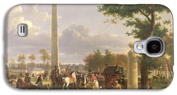 French Open Paintings Galaxy S4 Cases - Meeting between Napoleon I and Pope Pius VII Galaxy S4 Case by Alexandre Hyacinthe Dunouy