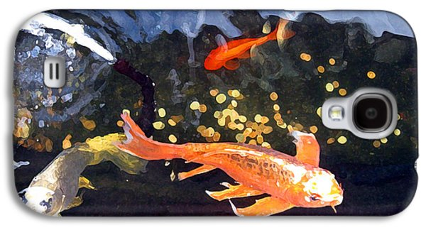 Goldfish Mixed Media Galaxy S4 Cases - Meetings on the Riverbank Galaxy S4 Case by Patricia Januszkiewicz