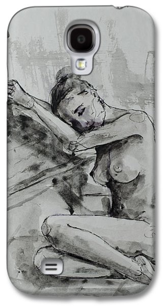 Woman Gift Galaxy S4 Cases - Melancholy Galaxy S4 Case by Dorina  Costras