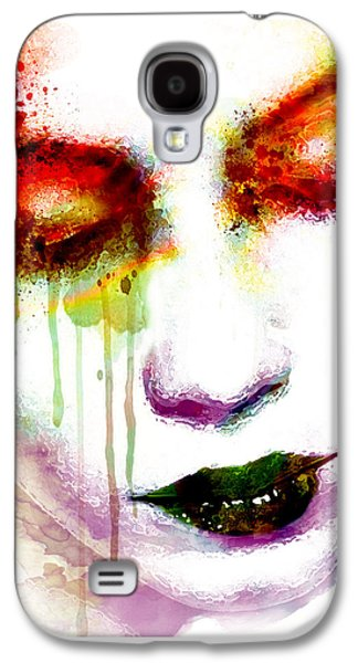 Emotion Mixed Media Galaxy S4 Cases - Melancholy in watercolor Galaxy S4 Case by Marian Voicu