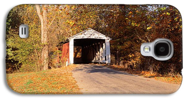 Indiana Landscapes Photographs Galaxy S4 Cases - Melcher Covered Bridge Parke Co In Usa Galaxy S4 Case by Panoramic Images