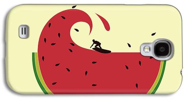 Macro Digital Galaxy S4 Cases - Melon splash Galaxy S4 Case by Neelanjana  Bandyopadhyay