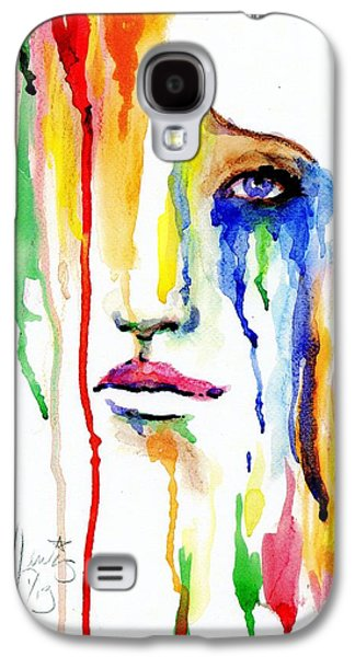 Crying Paintings Galaxy S4 Cases - Melting Dreams Galaxy S4 Case by P J Lewis