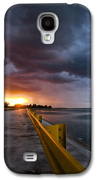 Yellow Line Galaxy S4 Cases - Melting point Galaxy S4 Case by Davorin Mance