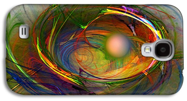Mathematical Design Galaxy S4 Cases - Melting Pot-Abstract Art Galaxy S4 Case by Karin Kuhlmann
