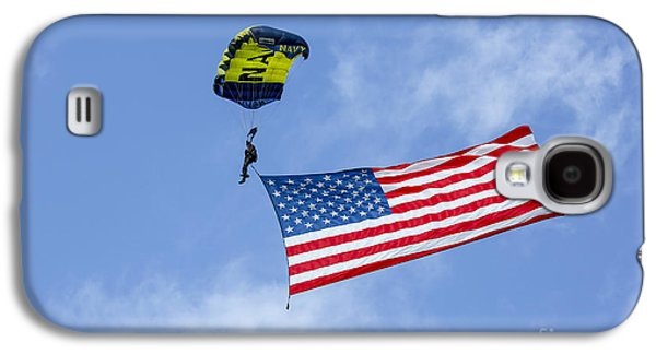 Fort Pierce Galaxy S4 Cases - Member Of The U.s. Navy Parachute Team Galaxy S4 Case by Michael Wood