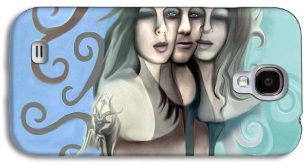 Angel Mermaids Ocean Galaxy S4 Cases - Memories Of A Long Ago Forgotten Future Galaxy S4 Case by Rachelle Petersen