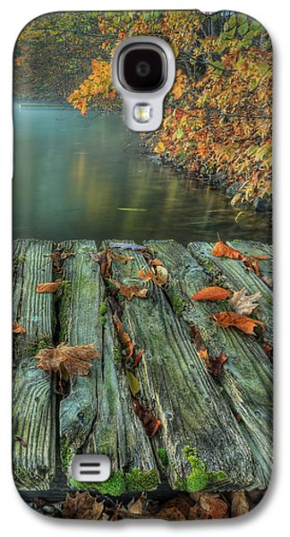 Autumn Leaf On Water Galaxy S4 Cases - Memories of the Lake Galaxy S4 Case by Jaki Miller