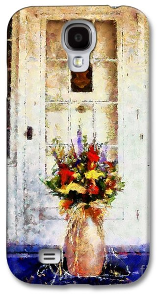 The Houses Mixed Media Galaxy S4 Cases - Memory Lane Galaxy S4 Case by Janine Riley