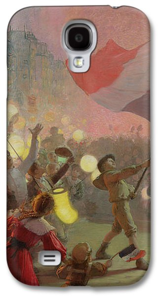 Lantern Galaxy S4 Cases - Memory Of The National Festival, 1895 Oil On Canvas Galaxy S4 Case by Hippolyte Berteaux