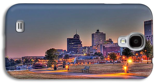 Cityscape - Skyline - Memphis At Dawn Galaxy S4 Case by Barry Jones