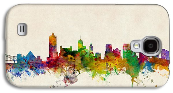 Usa Digital Art Galaxy S4 Cases - Memphis Tennessee Skyline Galaxy S4 Case by Michael Tompsett