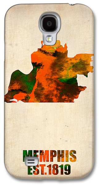 Midwest Galaxy S4 Cases - Memphis Watercolor Map Galaxy S4 Case by Naxart Studio