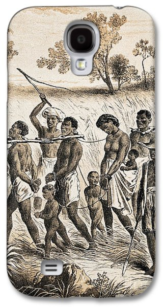 Slaves Galaxy S4 Cases - Men And Women Taken To Slave Market, C Galaxy S4 Case by Wellcome Images