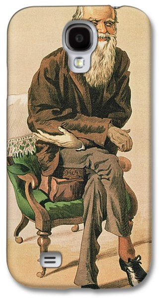 Old Man Galaxy S4 Cases - Men Of The Day, No. 33, Charles Darwin, Cartoon From Vanity Fair Galaxy S4 Case by .
