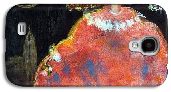 Ball Gown Photographs Galaxy S4 Cases - Menina And Cathedral Oil & Acrylic On Canvas Galaxy S4 Case by Marisa Leon