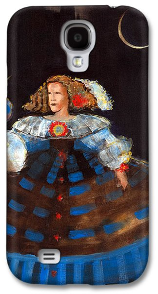 Ball Gown Photographs Galaxy S4 Cases - Menina And Eclipse Oil & Acrylic On Canvas Galaxy S4 Case by Marisa Leon