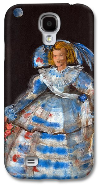 Ball Gown Photographs Galaxy S4 Cases - Menina With Blue Moon Oil & Acrylic On Canvas Galaxy S4 Case by Marisa Leon
