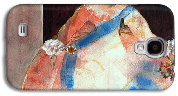 Ball Gown Photographs Galaxy S4 Cases - Menina With Sash And Flower Oil & Acrylic On Canvas Galaxy S4 Case by Marisa Leon