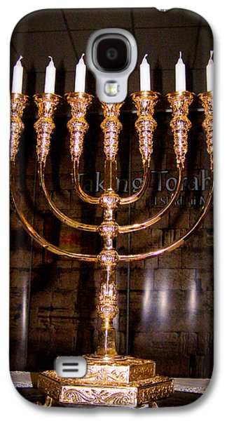 Candle Stand Galaxy S4 Cases - Menorah Galaxy S4 Case by Roger Reeves  and Terrie Heslop