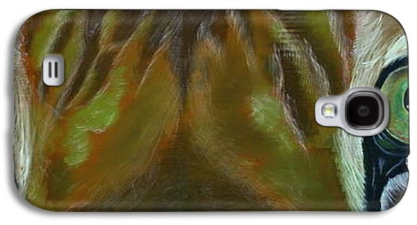 Portraits Tapestries - Textiles Galaxy S4 Cases - Meow Galaxy S4 Case by Iveta Burenkovaite