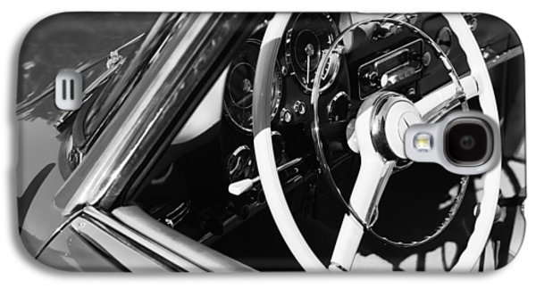 Car Photographs Galaxy S4 Cases - Mercedes-Benz 190SL Steering Wheel Galaxy S4 Case by Jill Reger