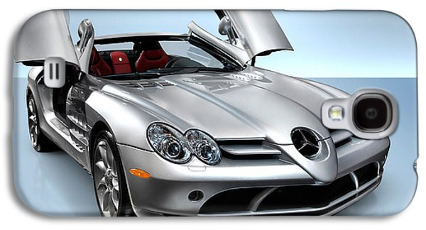 Cut-outs Galaxy S4 Cases - Mercedes Benz SLR McLaren Galaxy S4 Case by Oleksiy Maksymenko