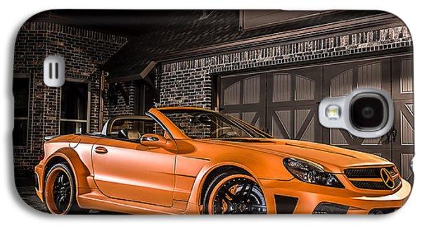 Orange Digital Art Galaxy S4 Cases - Mercedes SL65 AMG Custom Galaxy S4 Case by Douglas Pittman
