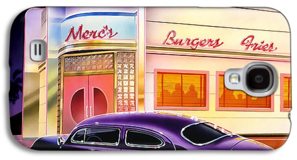50s Photographs Galaxy S4 Cases - Mercs Burgers Galaxy S4 Case by Bruce Kaiser