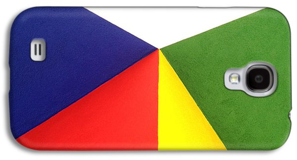 Color Block Galaxy S4 Cases - Merging Points Galaxy S4 Case by Art Block Collections