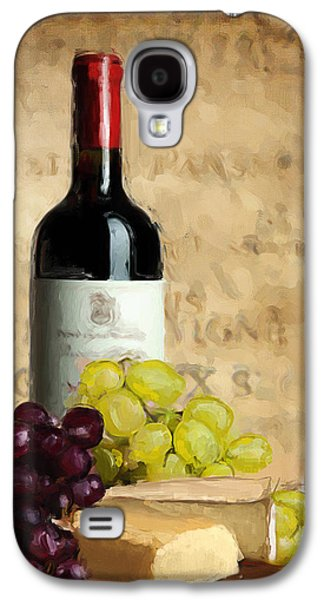 Grape Leaf Galaxy S4 Cases - Merlot IV Galaxy S4 Case by Lourry Legarde