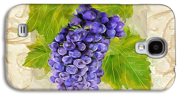 Grape Leaf Galaxy S4 Cases - Merlot Galaxy S4 Case by Lourry Legarde