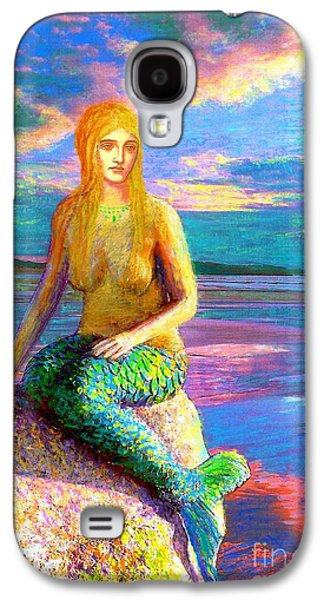Blue Galaxy S4 Cases - Mermaid Magic Galaxy S4 Case by Jane Small