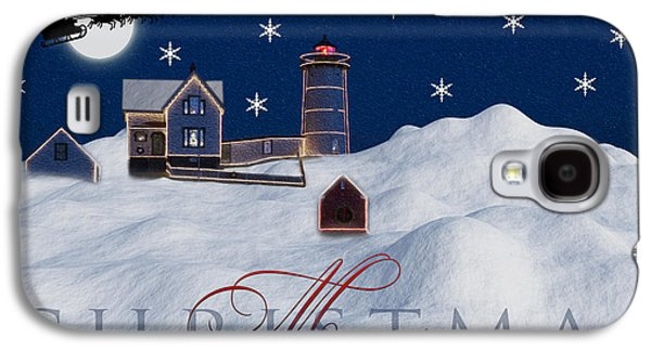 Snow Galaxy S4 Cases - Merry Christmas Galaxy S4 Case by Susan Candelario