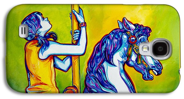 Carousel Horse Paintings Galaxy S4 Cases - Merry-go-round Galaxy S4 Case by Derrick Higgins