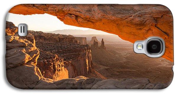 Landmarks Photographs Galaxy S4 Cases - Mesa Arch Sunrise 5 - Canyonlands National Park - Moab Utah Galaxy S4 Case by Brian Harig