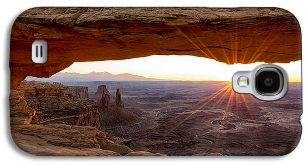 Beautiful Scenery Galaxy S4 Cases - Mesa Arch Sunrise - Canyonlands National Park - Moab Utah Galaxy S4 Case by Brian Harig