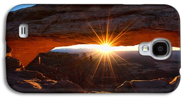 Glow Photographs Galaxy S4 Cases - Mesa Sunrise Galaxy S4 Case by Chad Dutson