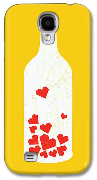 Wine Bottle Galaxy S4 Cases - Message in a bottle Galaxy S4 Case by Budi Satria Kwan