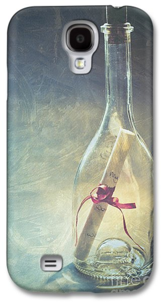 Glass Bottle Galaxy S4 Cases - Message in a Bottle Galaxy S4 Case by Jan Bickerton
