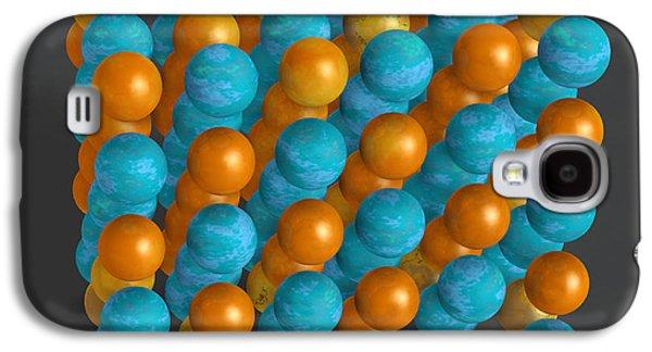 Animation Photographs Galaxy S4 Cases - Metal Crystal Lattice Galaxy S4 Case by Scott Camazine