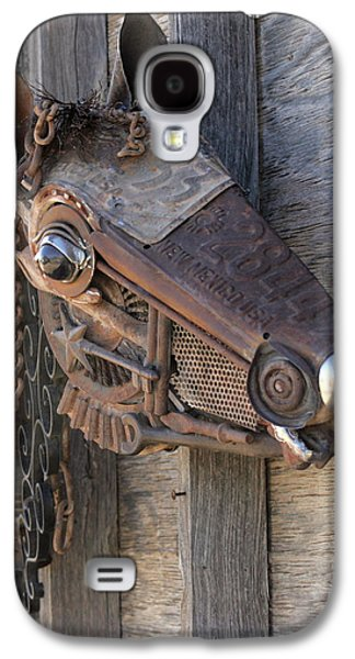 Iron Sculptures Galaxy S4 Cases - Metal Oops Galaxy S4 Case by Peggi Bell