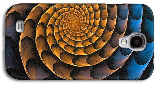 Gear Mixed Media Galaxy S4 Cases - Metal Spiral Galaxy S4 Case by Anastasiya Malakhova