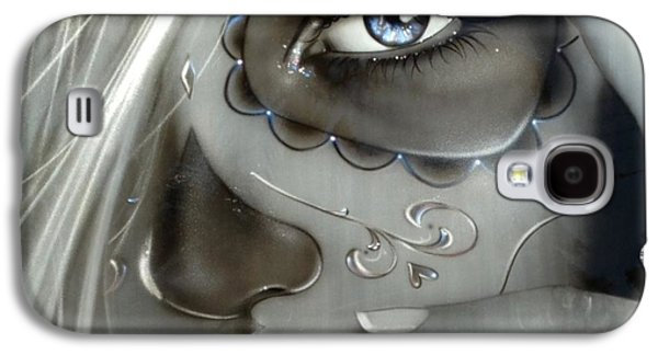 Portraiture Galaxy S4 Cases - Metallic Decay Galaxy S4 Case by Christian Chapman Art