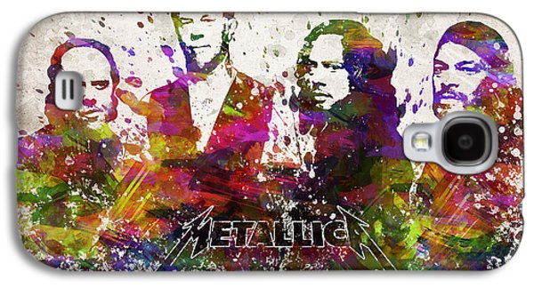 Famous Band Galaxy S4 Cases - Metallica in Color Galaxy S4 Case by Aged Pixel