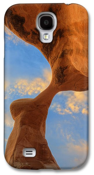 Southern Utah Galaxy S4 Cases - Metate Arch Sunset Galaxy S4 Case by Dustin  LeFevre