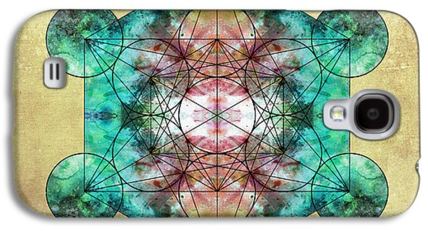 Flower Of Life Galaxy S4 Cases - Metatrons Cube Galaxy S4 Case by Filippo B